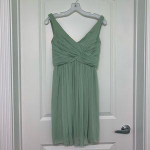 Safe Green scoop back dress